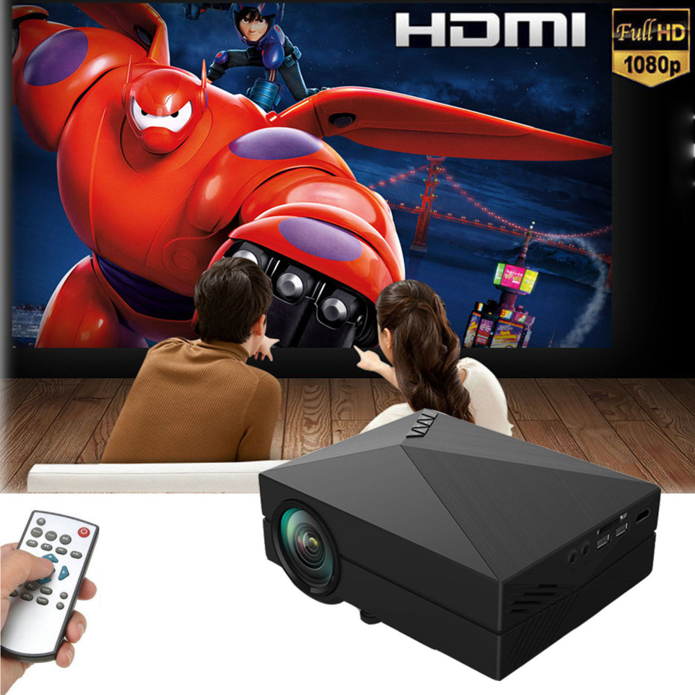 Wholesale 2015 Original Home Projector Lumens x Video USB VGA SD Home Video DVD GM HDMI Prokector lm Beamer