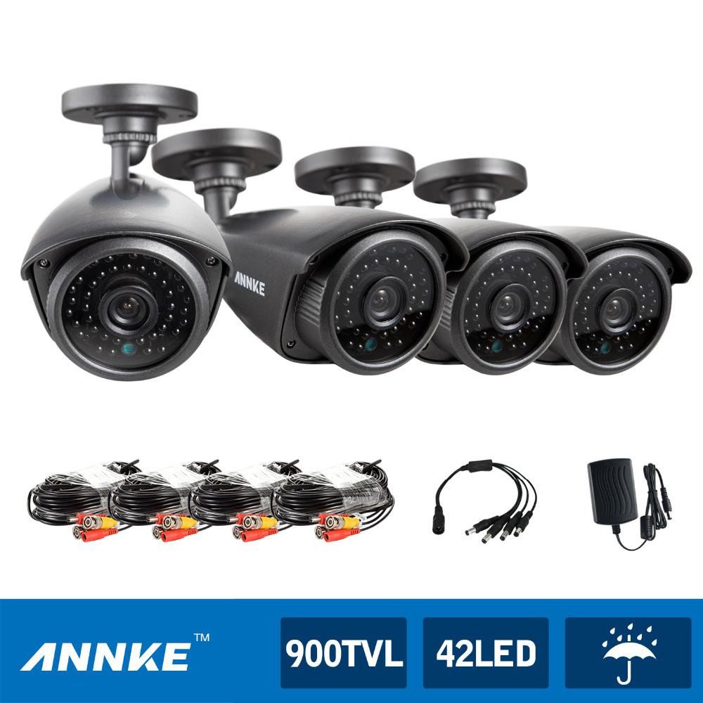 waterproof cctv wire camera - ANNKE x TVL IR Outdoor Home Security Surveillance CCTV Camera Weatheproof