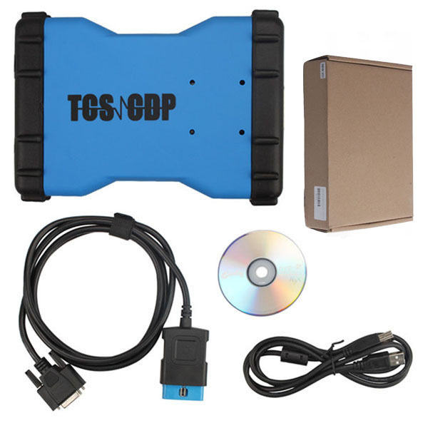 Cheap 2014.R2 Free Keygen!! TCS CDP PRO DS150E DS150 Blue Without Bluetooth + LED 3 in 1 + Carton box