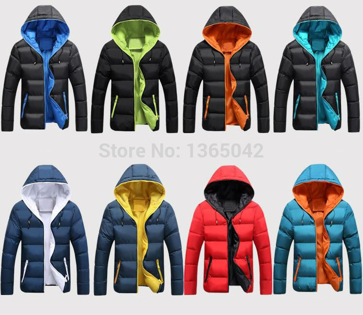 canada - Eight color explosion models men thicker down cotton coat men s fashion lovers student winter jacket parka canada S XXXL