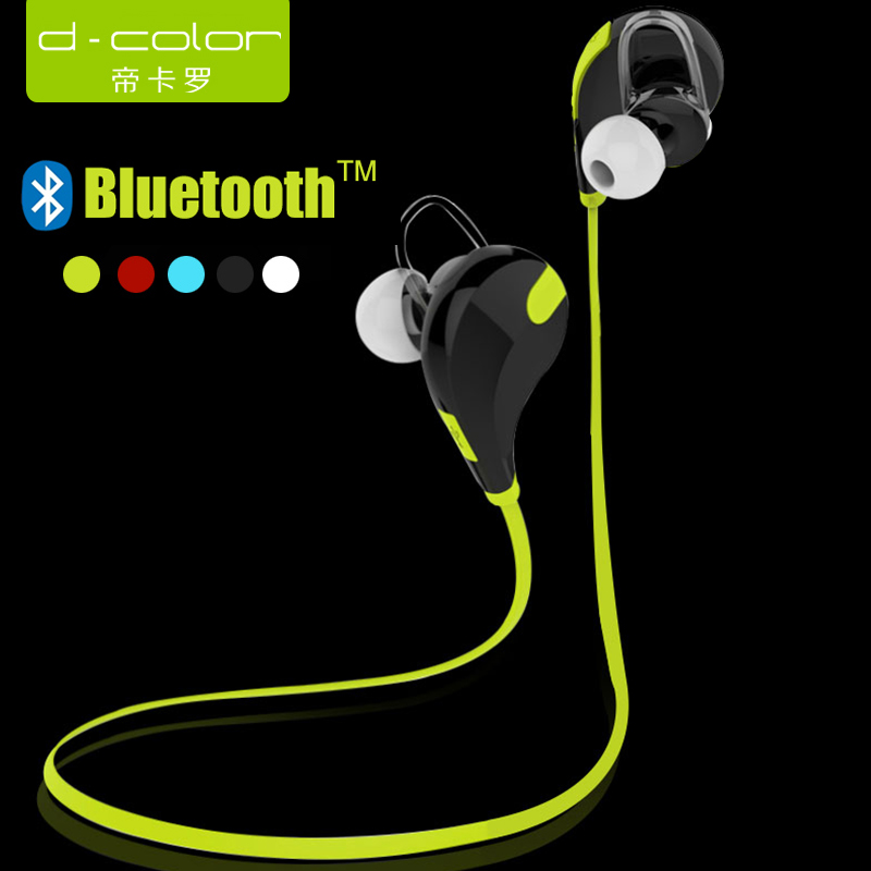Wholesale Bluetooth Headset Sports Running Wireless Headphones Dcolor brand QY7 Fashion Earphone Studio Music Headset with Microphone