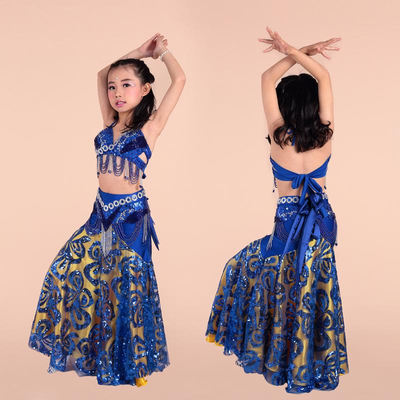 high end clothing - 3 pieces of bra BELT skirt high end hand adult belly dance performance clothing children s dance suit belly dance dance clothing