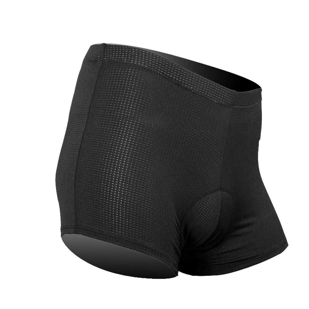Wholesale Spandex Under Clothes - Riding Gel Shorts Bicycle Antibacterial Breathable Under Short Clothing 3D Padded Bike Briefs Men Black Cycling Underwear S-3XL Y1836