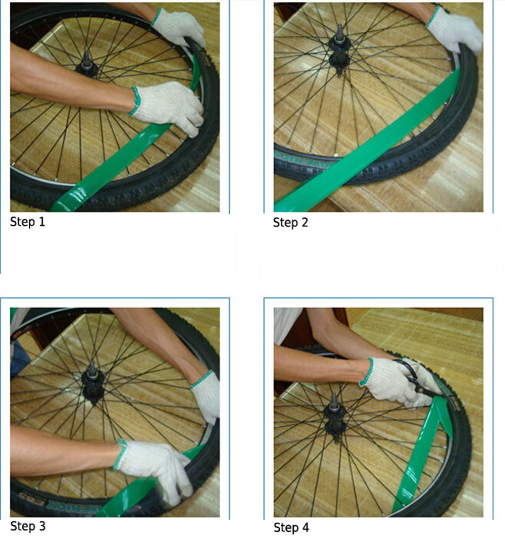 Wholesale 34mm Wide MTB Bicycle Tube Anti Puncture Liner Band MTB Road Bike Bicycle Tire Tyre Liner Band Tube Protector Y1636