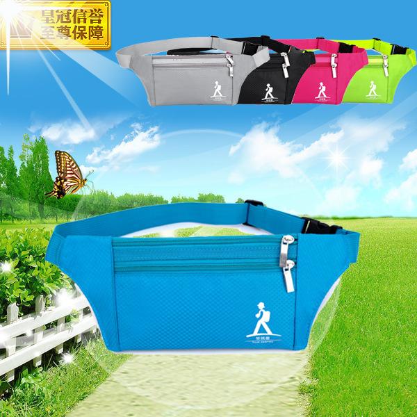 Wholesale hidden money belt sport tactical waist bag for running Multi function certificates outdoor chest package