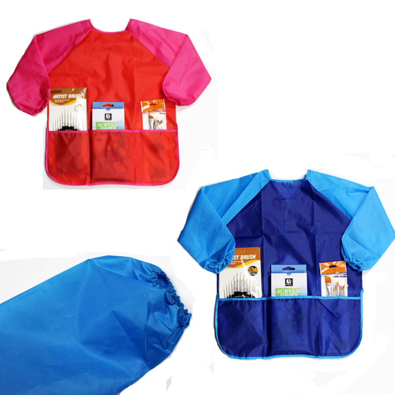 baking class - Fashion Kids Children Painting Baking Aprons Sleeves Set Art Paint Class