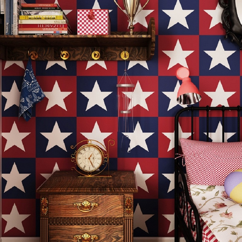 american flag paper - 2015 Hot Sale Luxury Europe Flag Paper Wallpapers American Stars Stripe Wall Paper papel de parede