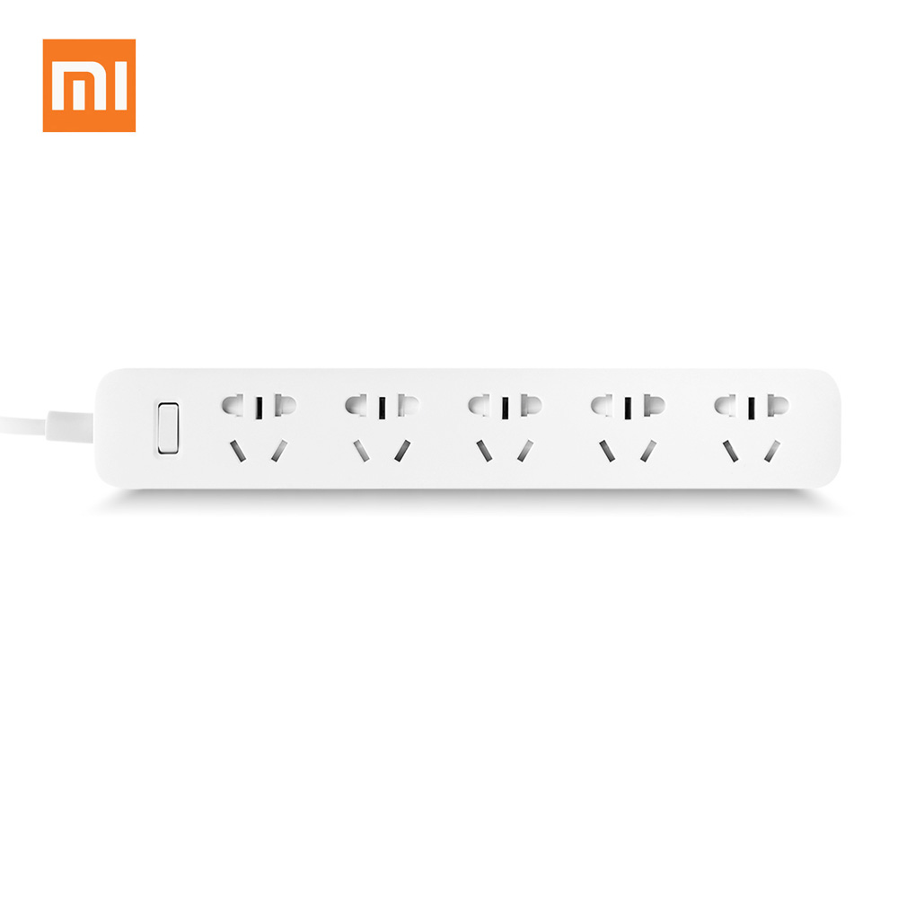 Original Xiaomi Mi Smart Power Plug Gaza con 5 tomas de corriente Adaptador de corriente inteligente sobrecarga eléctrica con encendido / apagado PA3116