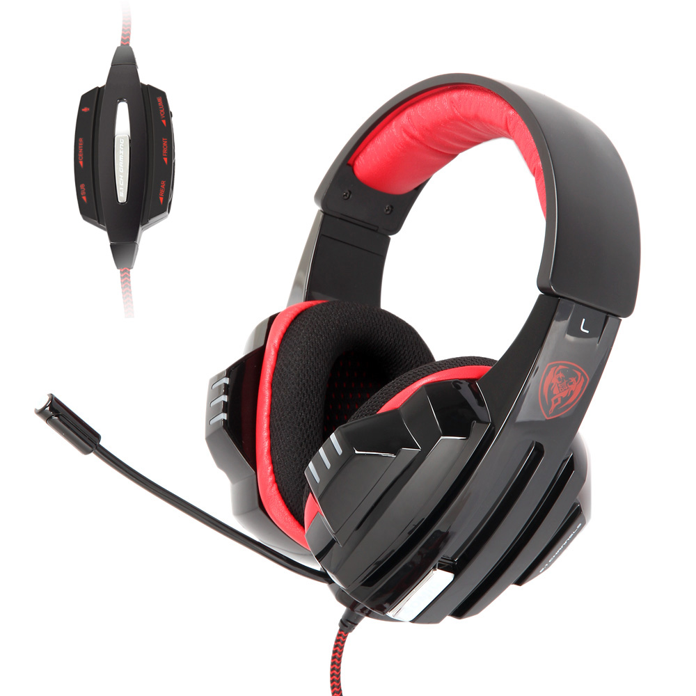 bass vibration headphones - Somic G95 Pro Vibration Gaming Headset with Mic Real Surround Bass Over Ear Esport Game Earphone Headphones LED USB Wired C2610