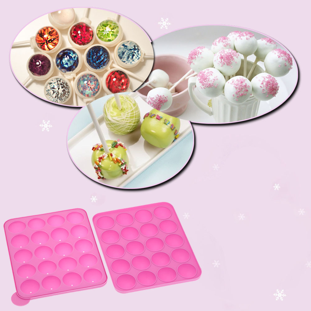 Wholesale 1Pcs Mini silicone candy molds Anself Silicone Lollipop Candy Chocolate Mold Maker Cake Cooking Candy Making Tools H15935