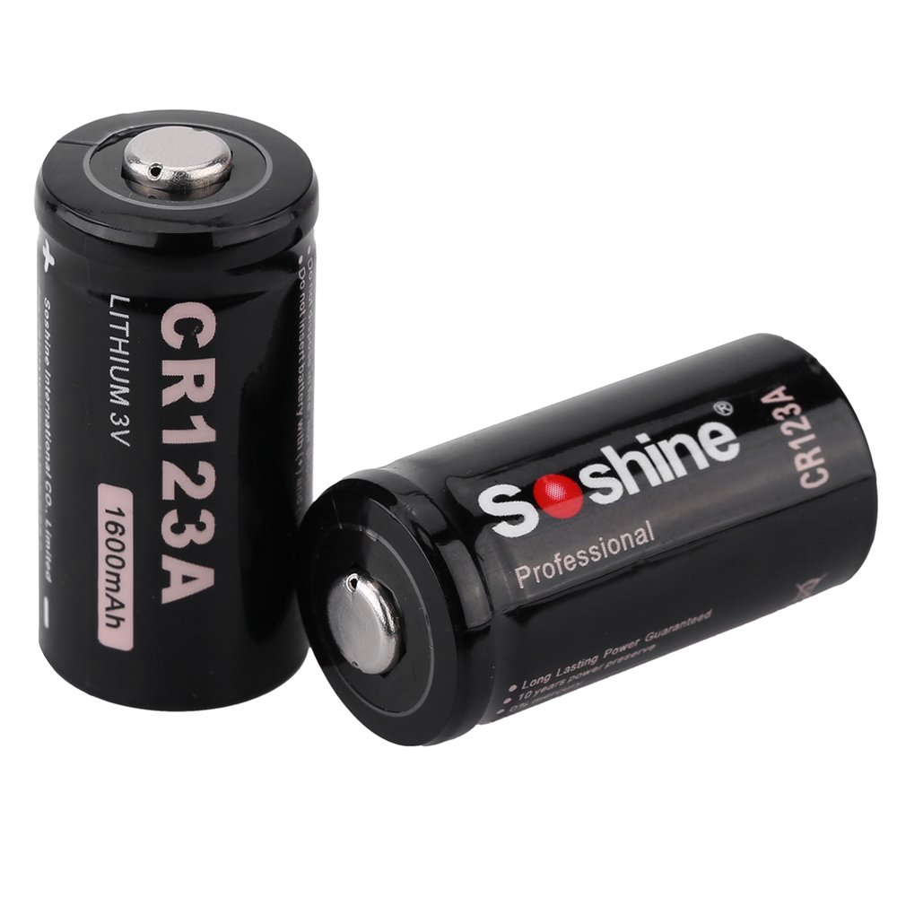 Wholesale For Game Counter Soshine V CR A Lithium Battery CR A mAh Li ion Batteries for Flashlight High Energy Density L0784