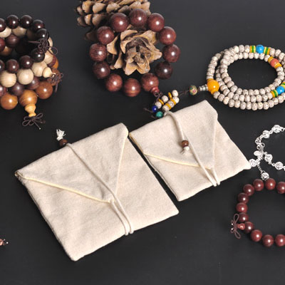 Wholesale Linen Flip Type Jewelry Gift Bag cmx12cm Double Deck Necklace Bracelet Bangle Packaing Pouches
