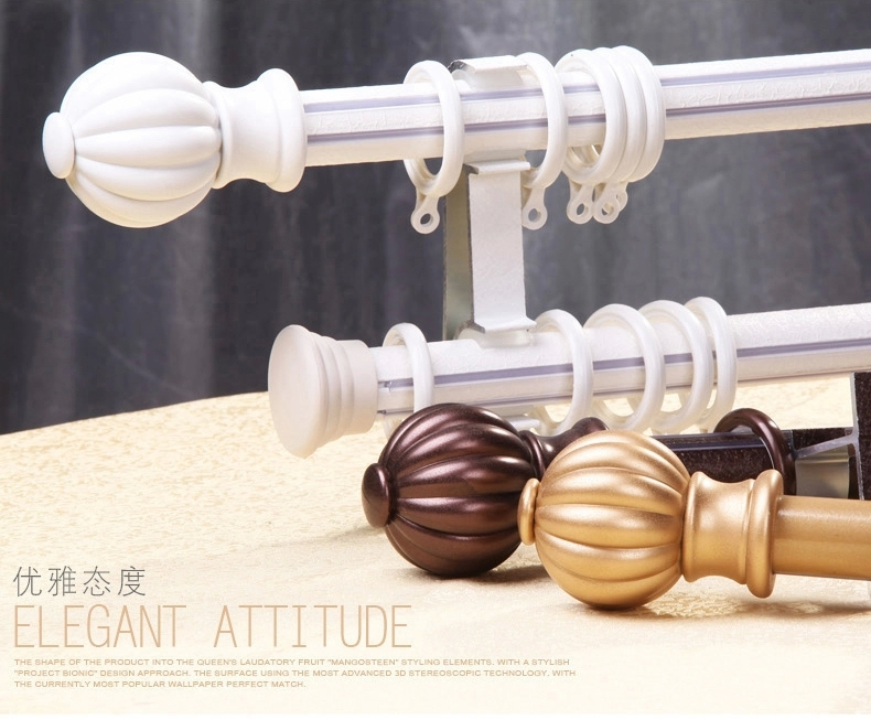 Wholesale New bionic mangosteen Rome bar silent curtain track aluminum installation accessories