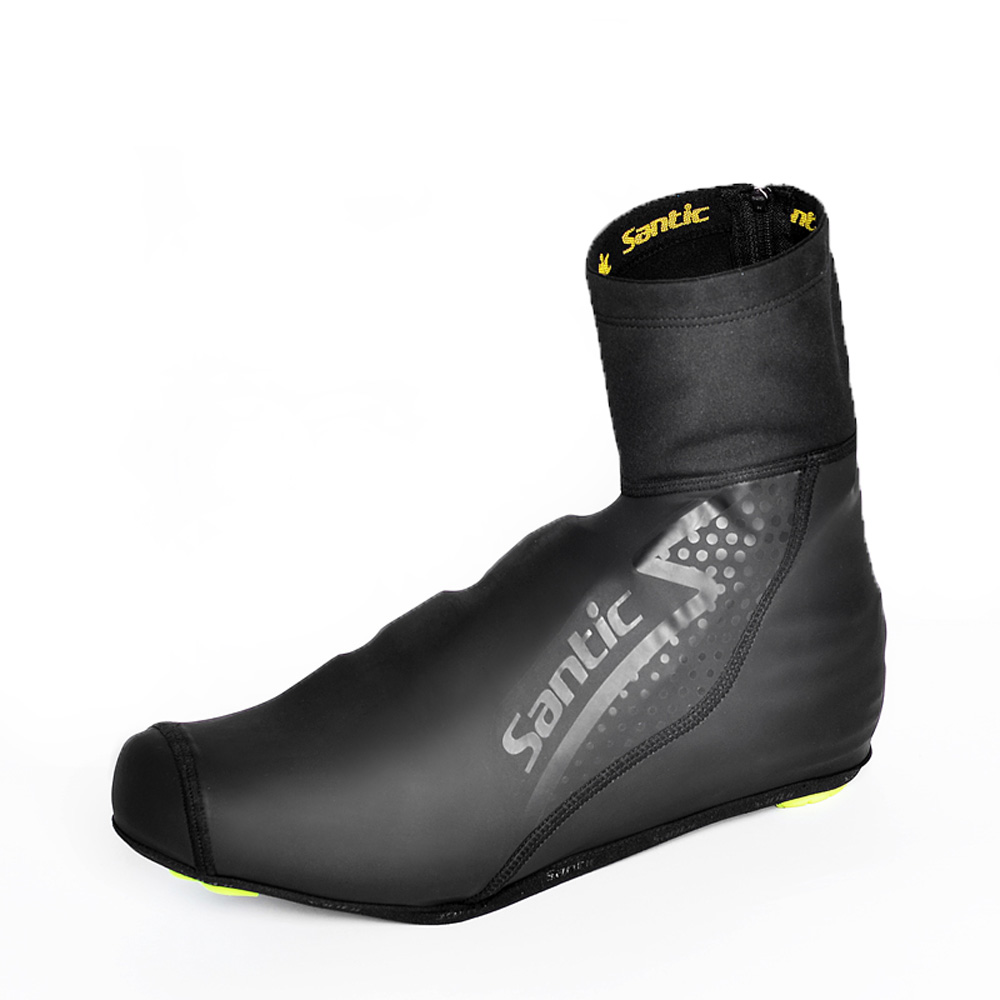 thermal protector - Promotion Santic Sport Shoe Cover Windproof Cycling Shoe Covers Protector Overshoes Winter Thermal Fleece Cycling Shoe Cover Y1735