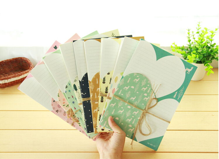 Wholesale 235 mm Cute Forest Flower animal Paper Writing Letter Pad Letter Writing Set Stationery DHL