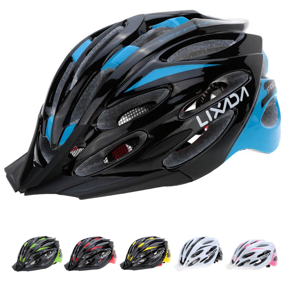 bicycle helmet brands - LIXADA Brand Sport Bicycle Cycling Helmet Ultralight Lining Pad Road Mountain Air Vents Colors MTB G PC EPS Helmet Y1749