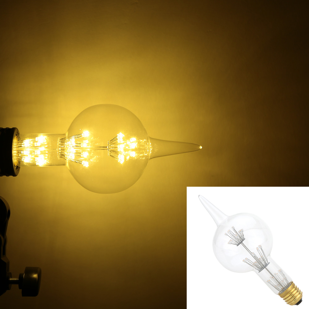 Wholesale Gourd Shaped E26 V E27 V Vintage Edison Incandescent Light Bulb Retro Edison Bulb G80 W Lamp Bulb Decorative Light Bulb L0906