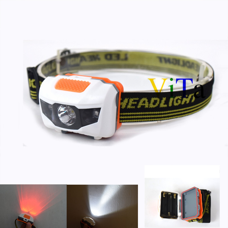 Wholesale High quality Lumens Headlight Modes Red LED White LED Head Lamp light Waterproof led Headlamp by AAA Battery