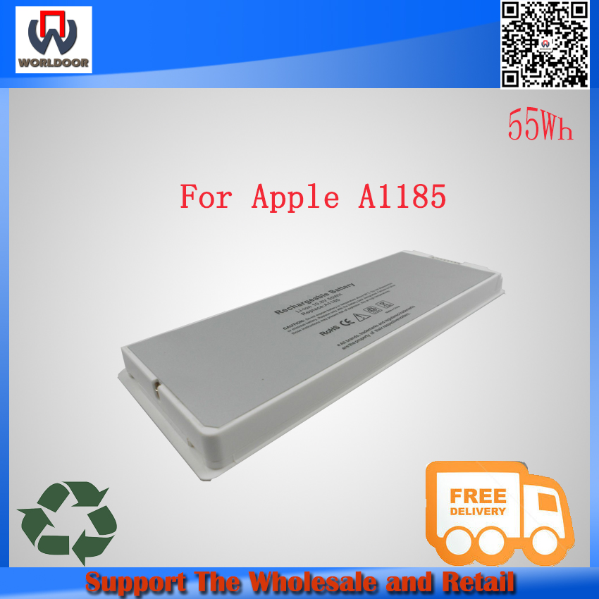 Cheap Hot sales!white 10.8v 55wh genuine laptop battery for A1185 A1181 For Apple MacBook 13 notebook battery