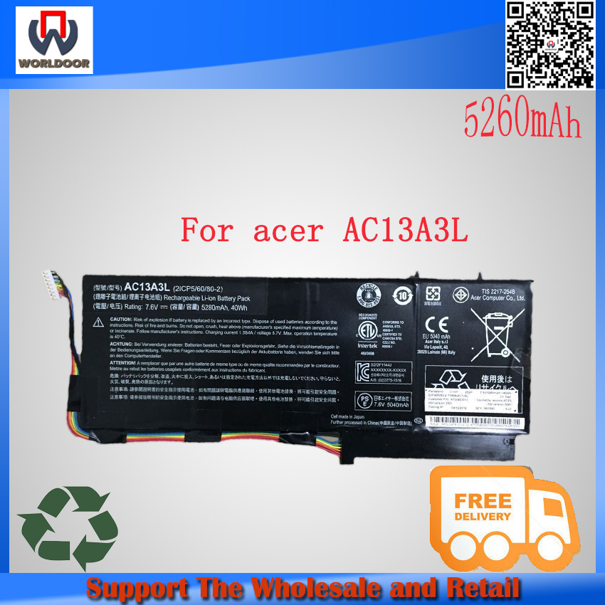 acer battery travelmate - Original V v mah AC13A3L original laptop battery For Acer TravelMate X313 P3