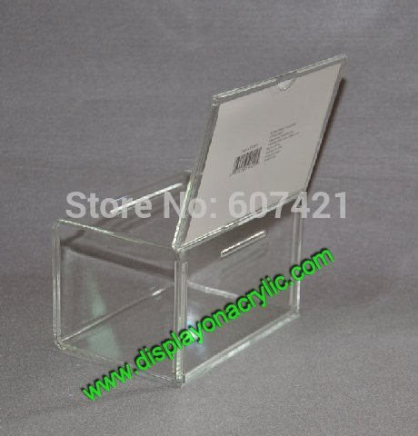ballot box - units Hot Selling Desktop Clear Acrylic Collection Entry Boxes Prexiglass Donation Box For Donation Ballot Raffle YDB005