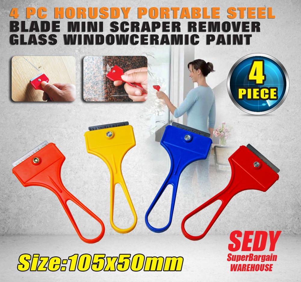 Cheap FREE SHIPPING 4PC PORTABLE STEEL BLADE MINI SCRAPER REMOVER GLASS WINDOWCERAMIC PAINT