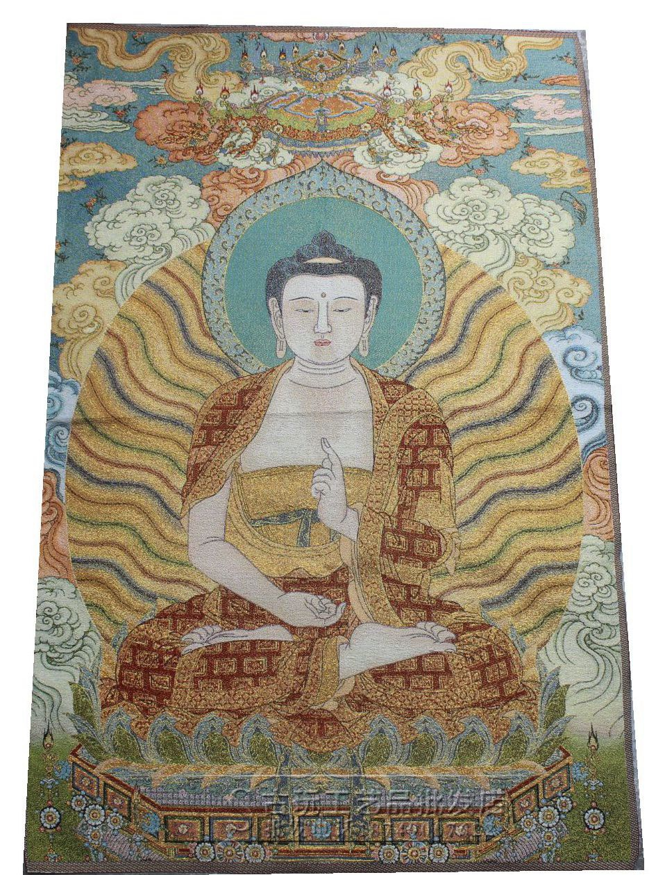 Wholesale Miscellaneous antiques Buddhist supplies Tibet Tibetan Thangka embroidery exquisite embroidery