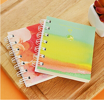 Wholesale Coil Mini Notebook With Candy Colour Cover Cute Kawaii Korean Style Portable Paper Notepad School Supplies Promotion Gift