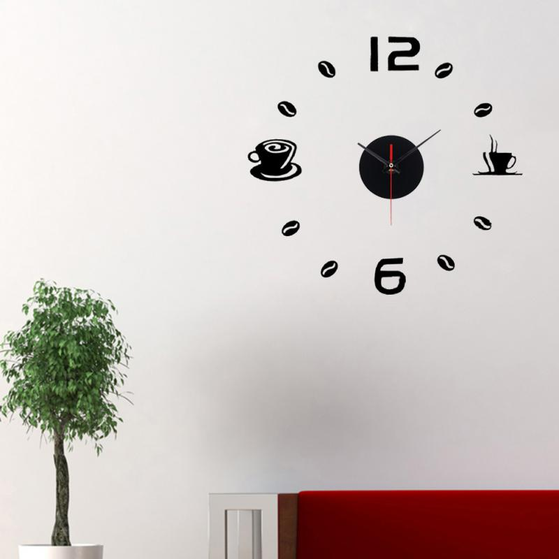 Wholesale DIY Wall Home decoration wall clock big mirror wall clock Modern design wall clocks diy wall sticker unique gift