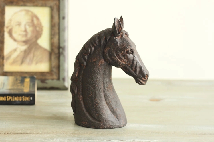 animal head sculpture - 2015 new fashion resin home ornaments office decoration resin horse head sculpture living room desk crafts business gift