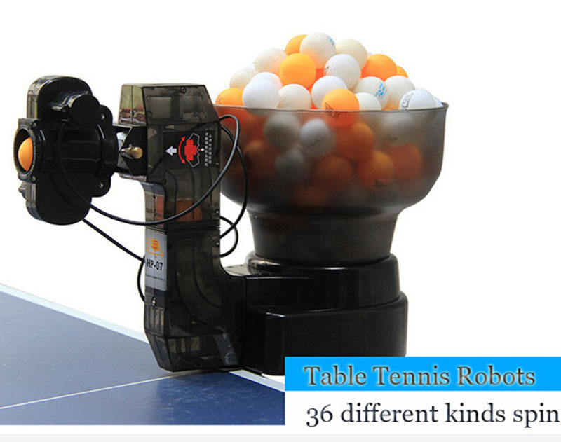 Wholesale HP Ping Pong Table Tennis Robots Ball Machines automatic ball machine spins home practicing on machine