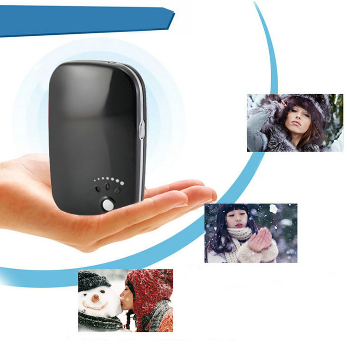 Wholesale Top Sale USB Pocket Portable Electric Hand Warmer Heater Rechargeable Led Light Charger