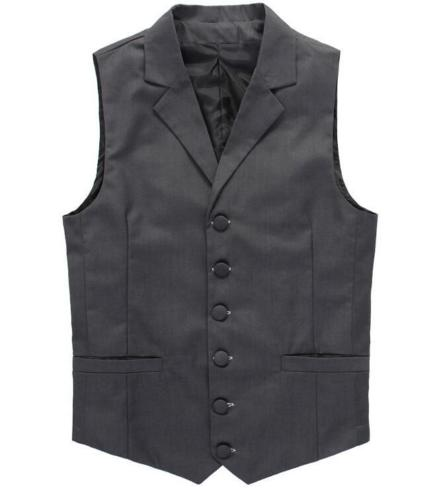 Wholesale Classic Men s Business Casual Suit Collar Waistcoat Grey Color Single breasted Slim Men Vest