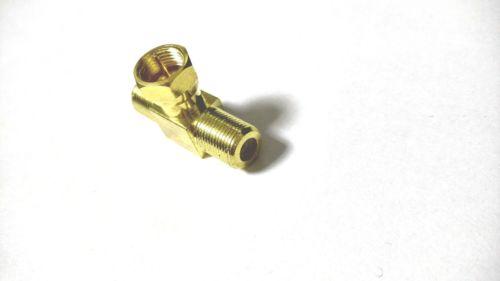 2019 Gold Plated Brass F Tv Plug Pin To 2 X F Tv Jack T Splitter