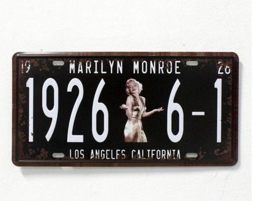 metal plaque - Classic Marilyn Monroe Los Angeles Embossed Metal Tin Sign License Plate Home Bar Pub Cafe Wall Decor Art Poster Plaque