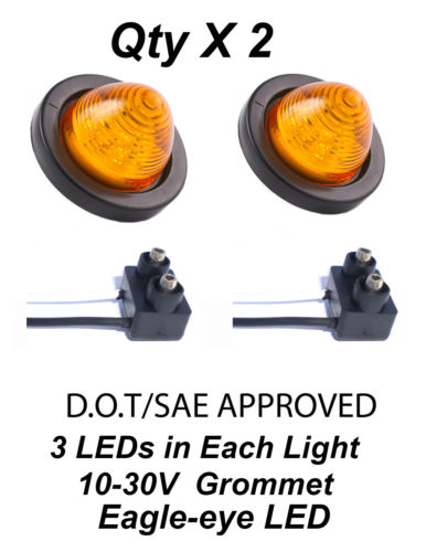 beehive light - 2pcs quot Round Amber LED Beehive Clearance Marker Side Vantage Light Kit