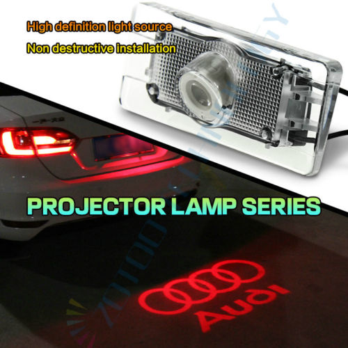 Wholesale Newest CANBUS Red Car LED License Plate Projection Lamp for Audi A4 A6 Q3 Q5 S6
