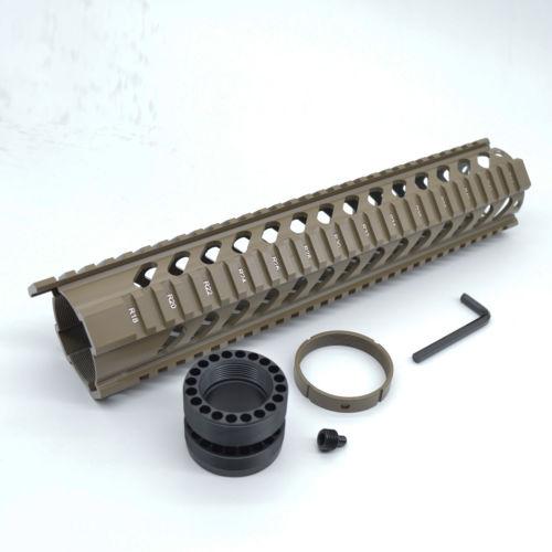 Wholesale 12 quot Length Free Float Quad Rail Mounting System Key mod Handguard Flat Dark Earth