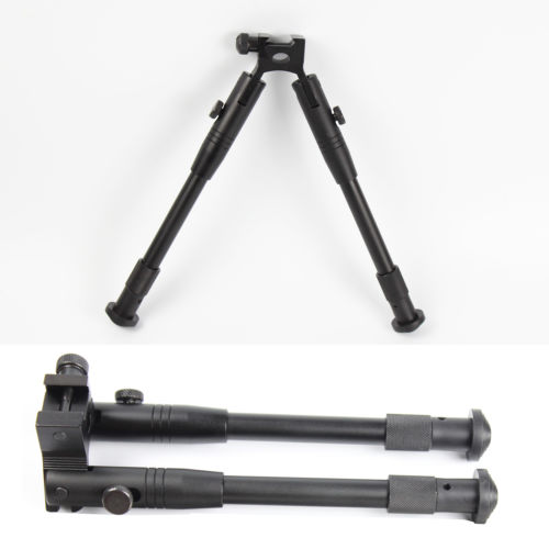 Wholesale 6 quot Foldable Arm Adjustable Picatinny Bipods Stabilizer Clamp on Rubber Stand