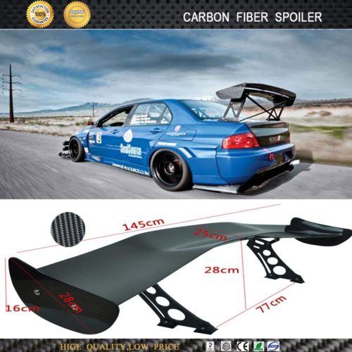 Wholesale 3D Universal Carbon Fiber Car Spoiler Car Rear Spoiler Wings CM Inches LONG