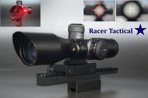 Wholesale Thanksgiving Day Black Friday Sales Racer Tactical Hunting x40 Rifle Scope Mil dot Dual illuminated Red Laser Sight Combo Free Ship
