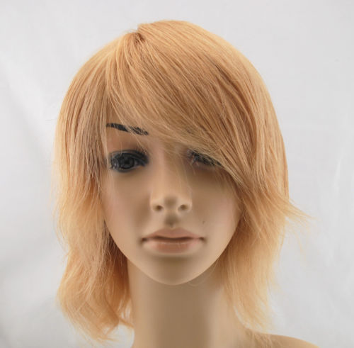 Wholesale Full handmade wig with high quality monofilament full wig human hair for men women blonde color