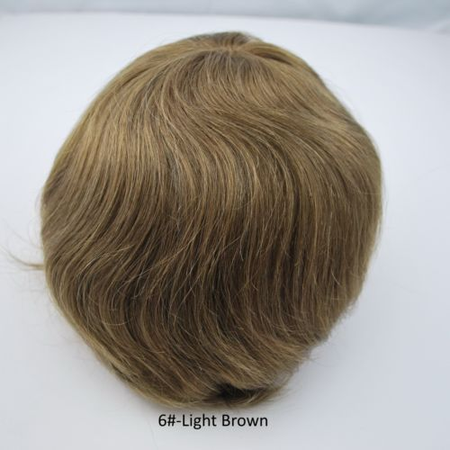 Wholesale the best you could buy for stock mens human hair black brown blonde toupee hair system hairpiece for men