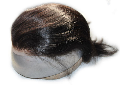Wholesale welded mono hairpiece with human hair custom hand made for men mens toupee system black brown colors