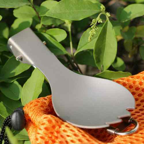Wholesale Titanium Spork Camping Spoon Folding Outdoor Fork Cutlery