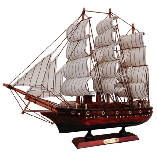 Wholesale 100 Handmade quot Wooden Sailboat Model Ship Model Wood Sailing Boat