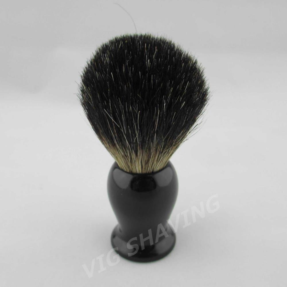 Wholesale Style Black Pure Badger Shaving Brush Faux Ebony black color resin Handle knot mm