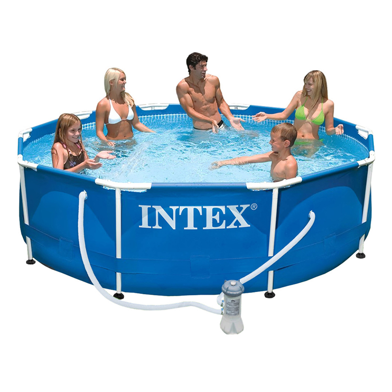Wholesale Ultralarge intex tube rack pool family swimming pool child adult wading pool with filter pump