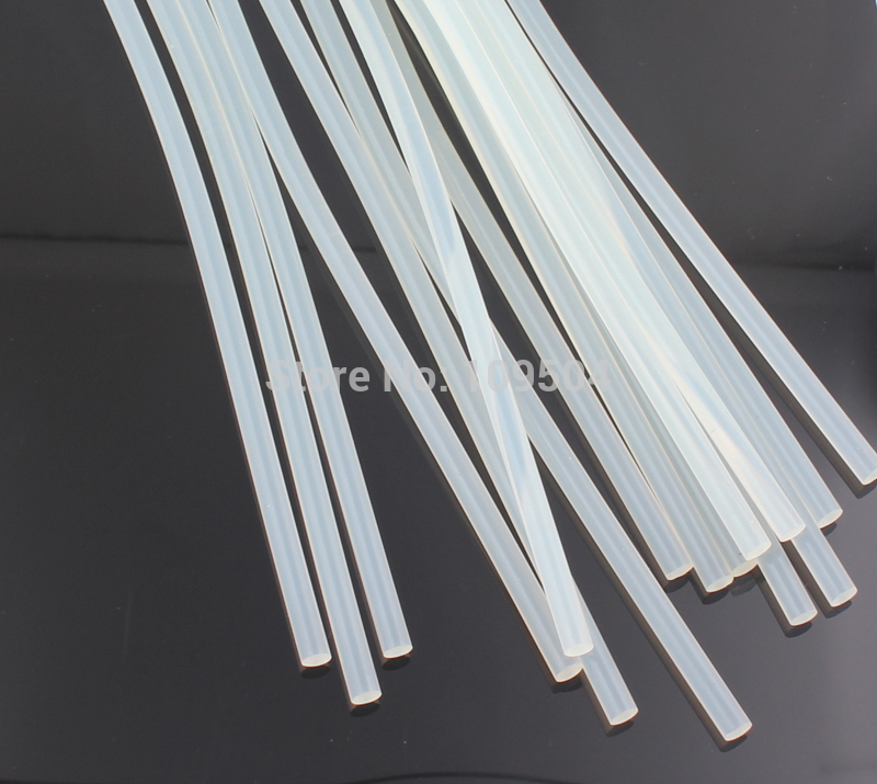Wholesale 7mm Hot Sale Jewellry Stick Glue Brute Force Translucence White Hot Melt Glue Sticks Environmental O97