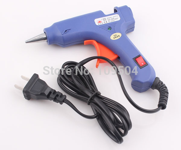 Wholesale 100 V Blue Electric Heating Hot Melt Glue Gun Crafts Repair Tool Professional Quality DIY O96